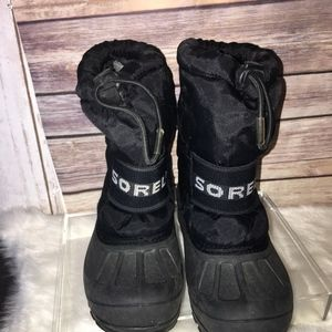 SOREL Youth Size 11 Cub Black Snow BOOTS-YOUTH-GUC